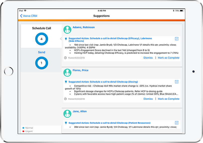 Next-Best-Action CRM Suggestions for Life Sciences | Aktana